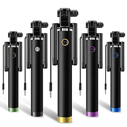 Selfie q424 Monopod Selfie Sticks with Aux Wire for All Smart Phones