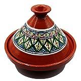 Tajine Pentola Terracotta Piatto Etnico Marocchino Tunisino M 22cm 3010201122