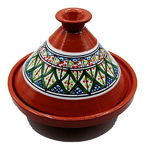 Tajine 3010201122 - Olla de terracota con plato étnico marroquí Túnez M 22 cm