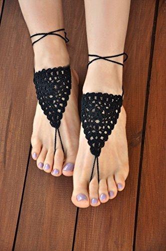 crochet feet jewelry - 3