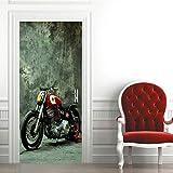 KAMAUAY Türsticker Kreativer Umweltschutz 3D Motorradsticker Selbstklebend Schlafzimmerdekoration...