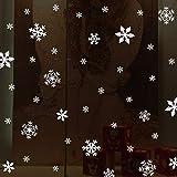 Fensteraufkleber Schneeflocke Weiß,Weihnachten Selbstklebend Fensterdeko,Schaufenster Deko Weihnachten,Schaufenster Deko Weihnachten,Christmas Decorations Window,Weihnachtsdeko Weiß(135pcs) - 6