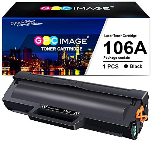 GPC Image 106A Cartucce Toner (con Chip) Compatibili per HP 106A W1106A per HP Laser 107w 107a 107r MFP 135a MFP 135r MFP 135w MFP 137fnw MFP 135wg MFP 137fwg (1 Nero)