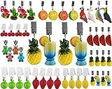 My-goodbuy24 Tischdeckenbeschwerer mit Klammer - 4er Set - Tischdeckenhalter Garten Tischdeckenklammern Tischtuch Clips - Polystone (Wassermelone)