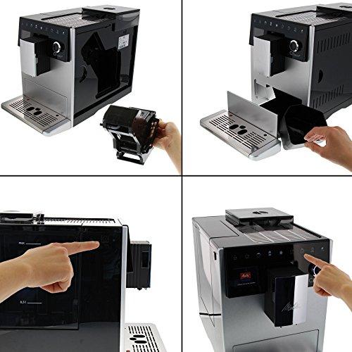 Melitta Caffeo CI Touch F630-101 Kaffeevollautomat mit Milchsystem I Flüsterleises Mahlwerk I Touch Funktion I 1,8l Wassertank I silber - 5