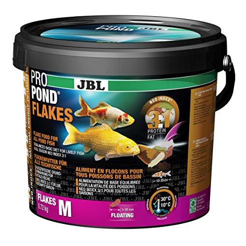 JBL Futter für alle Teichfische, Schwimmende Futterflocken, Funktionsfutter, ProPond Flakes, 0,72 kg