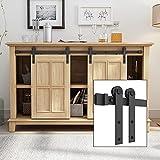 SMARTSTANDARD 5FT Super Mini Double Door Cabinet Sliding Barn Door...