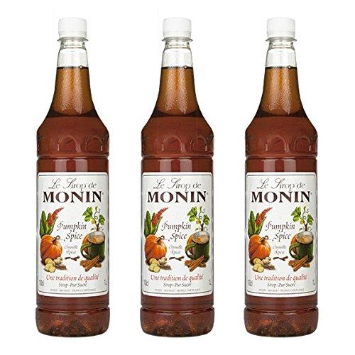 Monin Sirup Pumpkin Spice, 1,0L PET, 3er Pack