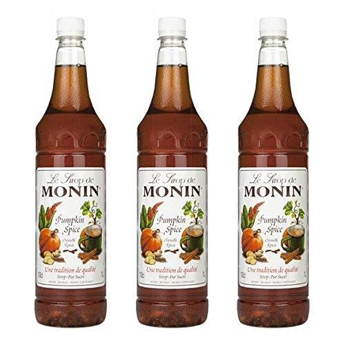Monin Sirup Pumpkin Spice, 1,0L PET, 3er Pack