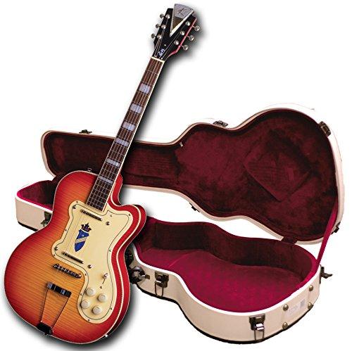 Kay Vintage Reissue K161VCS Thin Twin E-Gitarre, Cherry Sunburst, Tri-Kammer-Optik (überholt)
