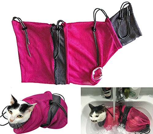 Alemon New Mesh Summber Cat Grooming Bag for Bath Injection Cat Travel Carrier Pet Supplies