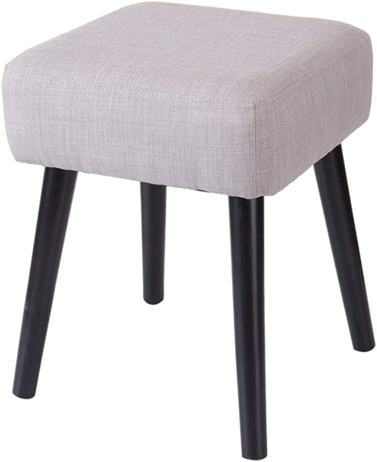 WEIYV-Barstools,bar Chair Change shoes Bench Fashion Square Stool Solid Wood Low Stool Nordic shoes Bench Cloth Sofa Stool Test shoes Bench Bench Small Stool 40 Side