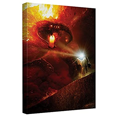 Trevco Lord of the Rings/Balrog Lor Canvas Wall Art with Back Board