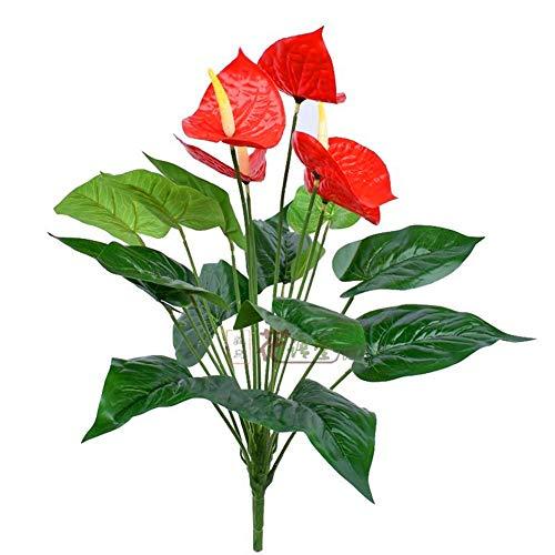 Kunstbloemen Simulatie grote balk film anthurium bos groen blad nep plant tafel salontafel set bloem interieur feestelijke bloem Kunstbloemen Decoratieve Planten.