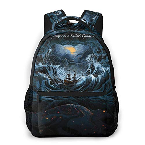 Lawenp Sturgill Simpson A Sailor's Guide to Earth Men and Women's Fashion Casual Backpack Outdoor Travel Bag Messenger Bags Casual Durable Lightweight