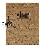 Lacor Helen collection 28343 - Porta Menú fabricado en Similpiel encuadernado con cordón de cuero, Termosellado en color marrón, 17x23'5 cm (A5)