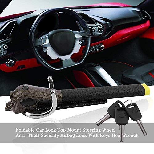 NBSMN Auto Lenkradschloss, Faltbares Airbag-sperre Lenkradkralle Fahrzeug Diebstahlsicherungen, Mit 3 Schlüsseln
