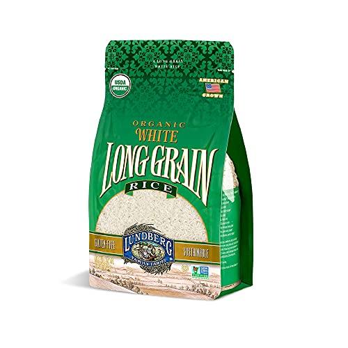 Lundberg Family Farms - Organic White Long Grain Rice, Subtle Flavor, Remains Separate When Cooked, Pantry Staple, Gluten-Free, Non-GMO, USDA Certified Organic, Vegan, Kosher (32 oz)