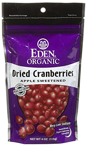 Eden Organic Dried Cranberries, 4 oz Pouches