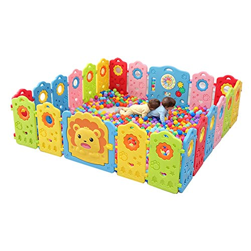 Great Deal! CYLQ Portable Playpen, Fence Activity Center for Babies and Kids, Home Indoor Outdoor Ve...