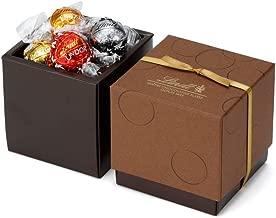 リンツ (Lindt) チョコレート リンドール スクエアギフトボックス 6種12個入り ショッピングバッグS付