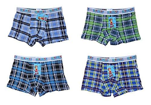Dealzone Boxershorts voor jongens, retroshorts voor kinderen, verpakking van 4 stuks