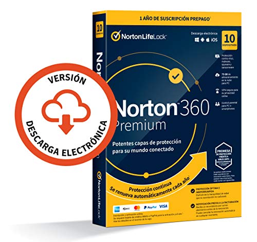Norton 360 Premium 2021 - Antivirus software para 10 Dispositivos...
