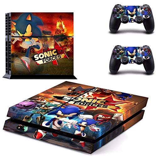 FENGLING Juego Sonic Forces Ps4 Skin Sticker para Sony Playstation 4 Consola y Controlador Ps4 Skins Stickers Decal Vinyl