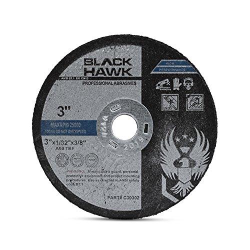 "BHA Metal and Stainless Steel Cut Off Wheels for Die Grinders, 3"" x 1/32"" x 3/8"" - 25 Pack"
