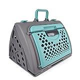 Pet Online El portador portable del animal doméstico mueve hacia fuera el vuelo / la línea aérea aprobados, 47 * 39 * 36cm, verde del recorrido del portador de los animales