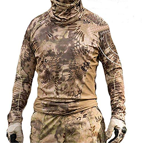 ATAIRSOFT Worldshopping4U Hiker Caza Hombres Combate BDU Camiseta de Manga Larga Nomad para ejército táctico Militar para Airsoft y Paintball