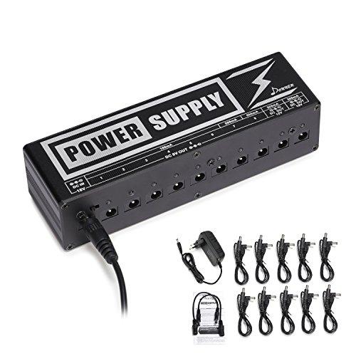 Donner DP-2 Fuente de Alimentación para Pedal de Efectos para Guitarra Portable, con Adaptador y Cables de Alimentación, Versión Avanzada