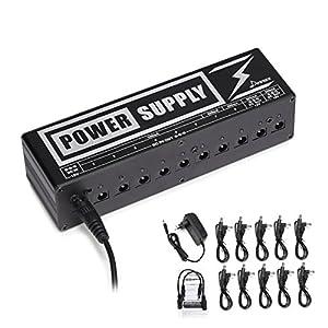 Donner Gitarre Pedal Power Supply 10 Isolated Ausgang Pedal Netzteil für 9V / 12V / 18V Effektpedale (DP-2)
