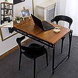 SYLTL Mesa plegable de pared para ordenador y estación de trabajo, mesa de comedor de cocina con gran capacidad de almacenamiento