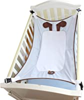 ZGCT scraping therapy Portable Baby Hammock,Soft And Comfortable Material With Strong Adjustable Straps,Fits Perfectly In Your Crib Or Travel Cot,Grey
