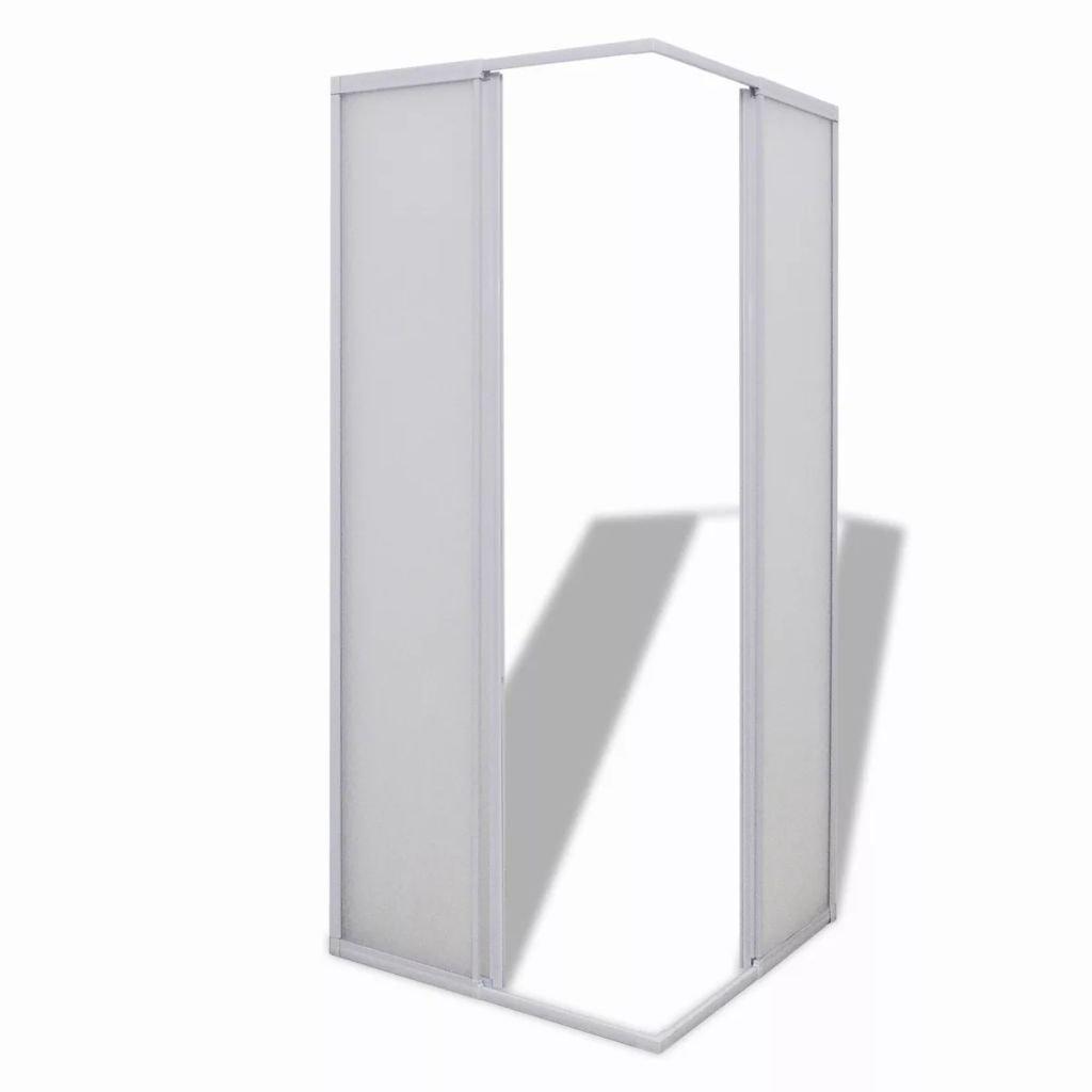 vidaXL Cabina de Ducha Pantalla de PP Marco de Aluminio Rectangular 80 x 80 cm: Amazon.es: Hogar