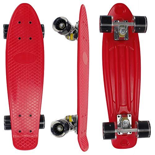 Eseewin 22'x6 Mini Cruiser Skateboard Completo per Principianti Ragazzi Adolescenti Ragazze Ragazzi...