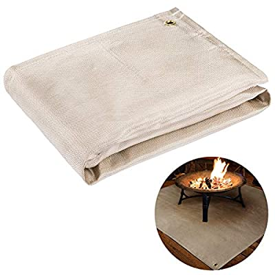 39''× 39'' Fireproof Fire Pit ...