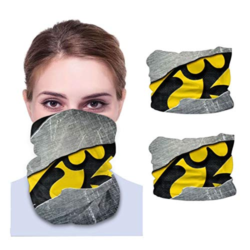 Fremont Die Iowa Hawkeyes Unisex Sun-Proof Face Bandanas,Face Cover,Scarf,Variety face Towel,Microfiber Neck Warmer,Variety Head Scarf,Lightweight,Breathable Outdoors,Running,Cycling 2 PCS