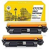 CMYBabee Compatible Cartucho de Tóner Reemplazo de para HP 17A CF217A para HP Laserjet Pro M102w M102a MFP M130nw MFP M130fw MFP M130fn MFP M130a Impresoras (2 Paquete)