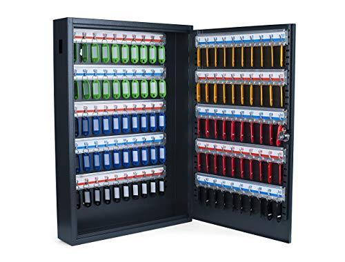 Pavo 8047222 Caja para llaves de alta seguridad (capacidad para hasta 100 unidades) gris