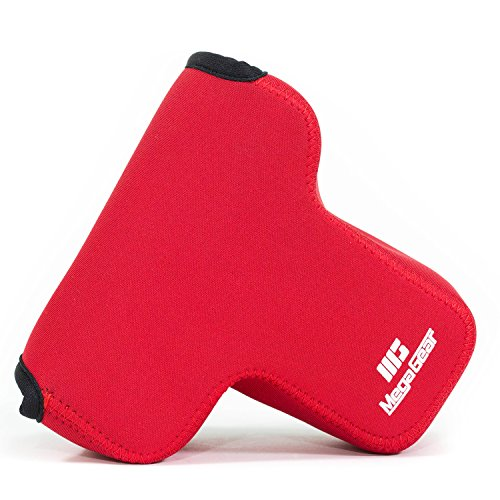 MegaGear MG018 Ultra Light Neoprene Camera Case compatible with Canon EOS M2 (18-55 mm), M - Red