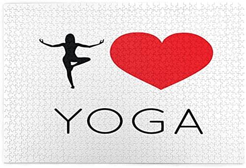I Love Yoga。jpg DIY Puzzles Educación Juguete 1000 piezas rompecabezas paisaje grande rompecabezas para adultos y niños, cada pieza es única