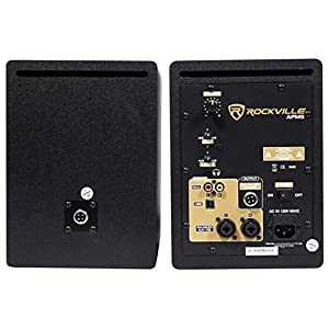 "Rockville APM5B 5.25"" 2-Way 250W Active/Powered USB Studio Monitor Speakers Pair"