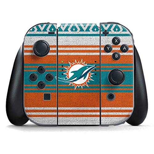 Skinit Decal Gaming Skin Compatible with Nintendo Switch Joy Con Controller - Officially Licensed NFL Miami Dolphins Trailblazer Design