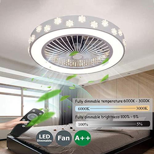 Ventilador De Techo Carrefour Velocidad Del Viento Ajustable,Ventiladores De Techos Con Iluminación 80W LED Techo Lámpara Remoto Control Regulable Súper Silenciosa Invisible Ventilador,50cm(b)