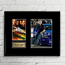 Paul Walker Fast and Furious Signed Autographed Photo Mat Custom Framed 11 x 14 Replica Reprint Rp