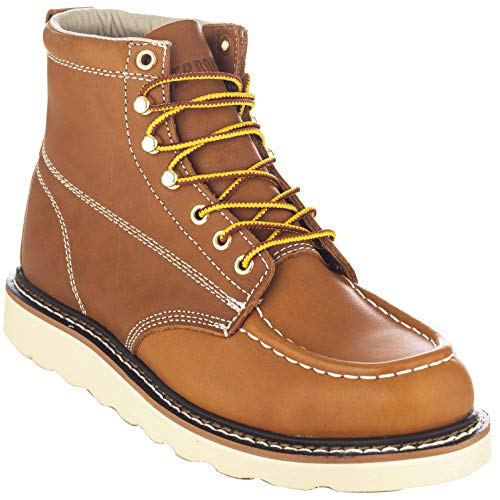"EVER BOOTS ""Weldor Men's Moc Toe Construction Work Boots Wedge Soft Toe (11 D(M), Brown)"