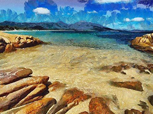 Azul da Cor do Mar de Celito Medeiros - 50x66 - Tela Canvas Para Quadro