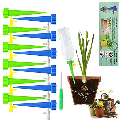 TUFEIMJ 12Pcs Irrigation Goutte à Goutte Kit, Arrosage Plantes Automatique avec Vannes pour Jardin...
